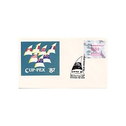 AUSTRALIA (1987). Platypus - CUP-PEX 87. Sobre conm. (7.2)