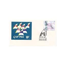 AUSTRALIA (1987). Platypus - CUP-PEX 87. Sobre conm. (3.2)