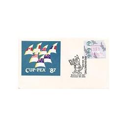 AUSTRALIA (1987). Platypus - CUP-PEX 87. Sobre conm. (2.2)