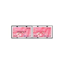 TAIWÁN (2009). Flores Tung (2)- negro. ATMs nuevos (076--->105)