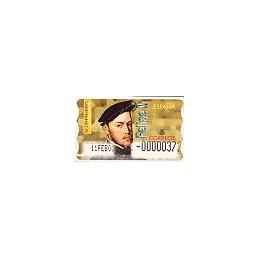 ESPAÑA. 28S. Felipe II. Etiqueta control E (No.-)