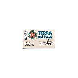 ESPAÑA. 49S. Terra Mitica. Etiqueta control A (N- modif.)