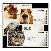 2005. Animais Domésticos (Cobaya, perro, gato, yaco - loro gris)