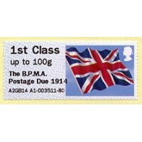 2014. Hytech + IAR - Impresión 'The B.P.M.A. Postage Due 1914'