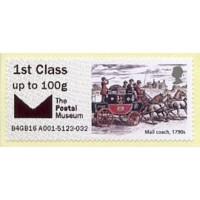 2016. Mail coach, 1790s (coche de caballos postal)