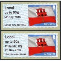 2020. Post & Go - Bandera de Gibraltar (VE Day 75th)