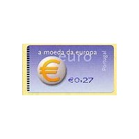 2002. Euro, a moeda da Europa (European currency) - SMD BLUE
