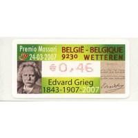 2007. Premio Massari - 9230 Wetteren - Edvard Grieg 1843-1907