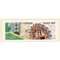 2010. Le Salon du Timbre Paris 2010 - Moulin (Molino hidráulico)