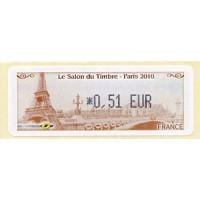 2010. Le Salon du Timbre Paris (Tour Eiffel, Pont Alexandre III)