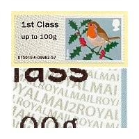 2012. Robin (Navidad) - Papel MA12