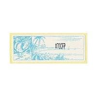 2002. Tropical landscape - Face value CFP - black imprint