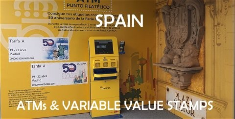 SPAIN - ATMs and variable value stamps