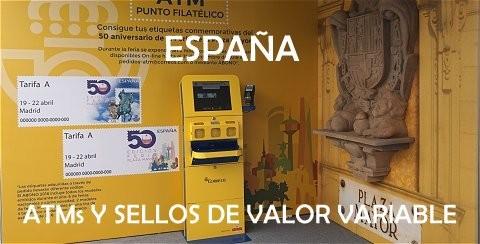 ESPAÑA - Todas las emisiones ATM y sellos de valor variable