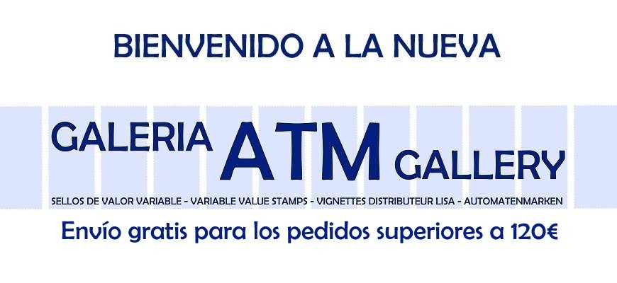 Bienvenido a la nueva GALERIA ATM. Envío gratis para todos los pedidos superiores a 120€